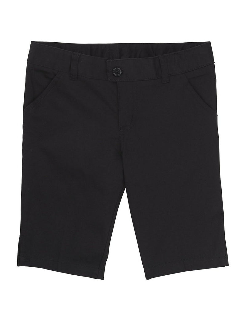 French Toast Girls' Twill Bermuda Short Black