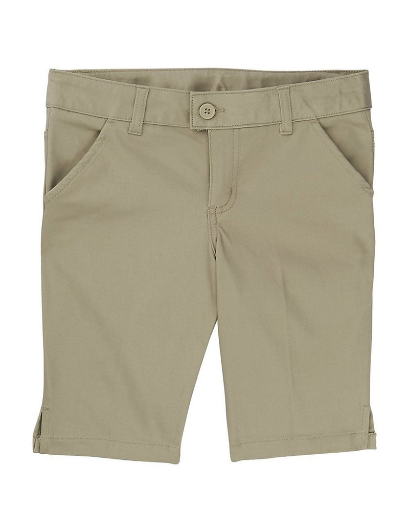 French Toast Girls' Twill Bermuda Short Khaki