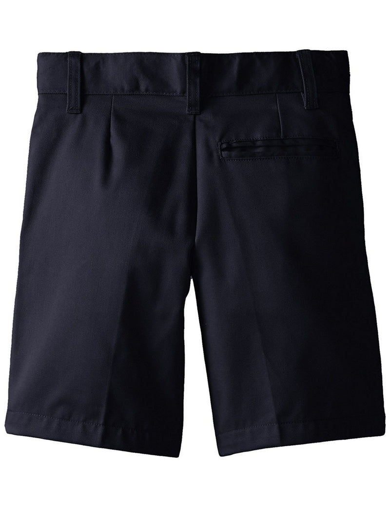 French Toast Boys' Basic Flat-Front Short With Adjustable Waist Navy