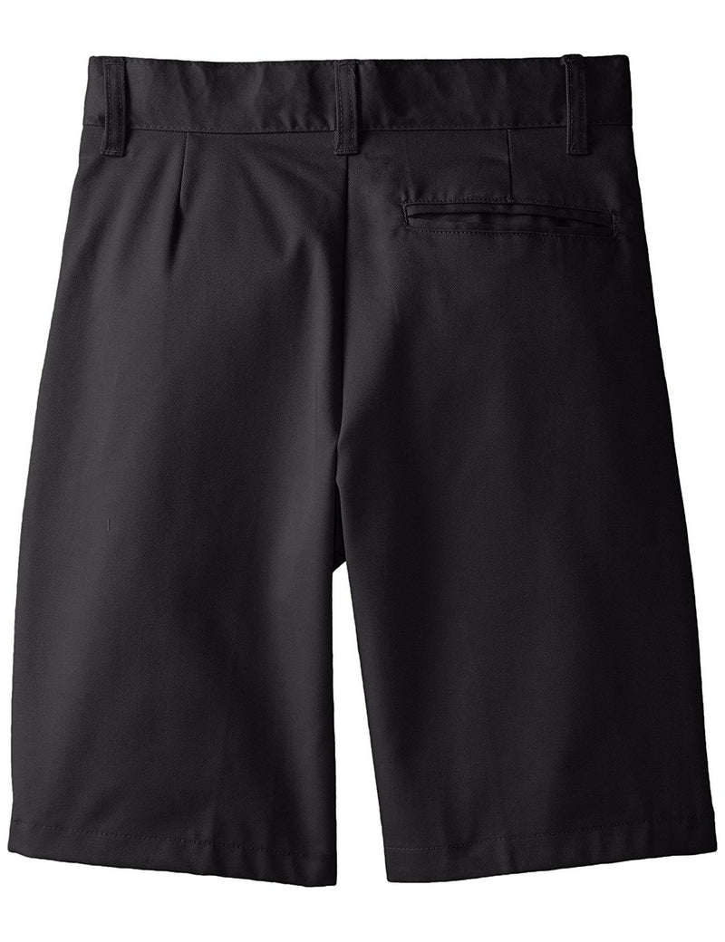 French Toast Boys' Basic Flat-Front Short With Adjustable Waist Black