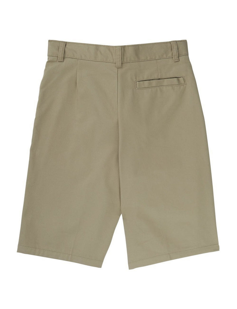 French Toast Boys' Basic Flat-Front Short With Adjustable Waist Khaki