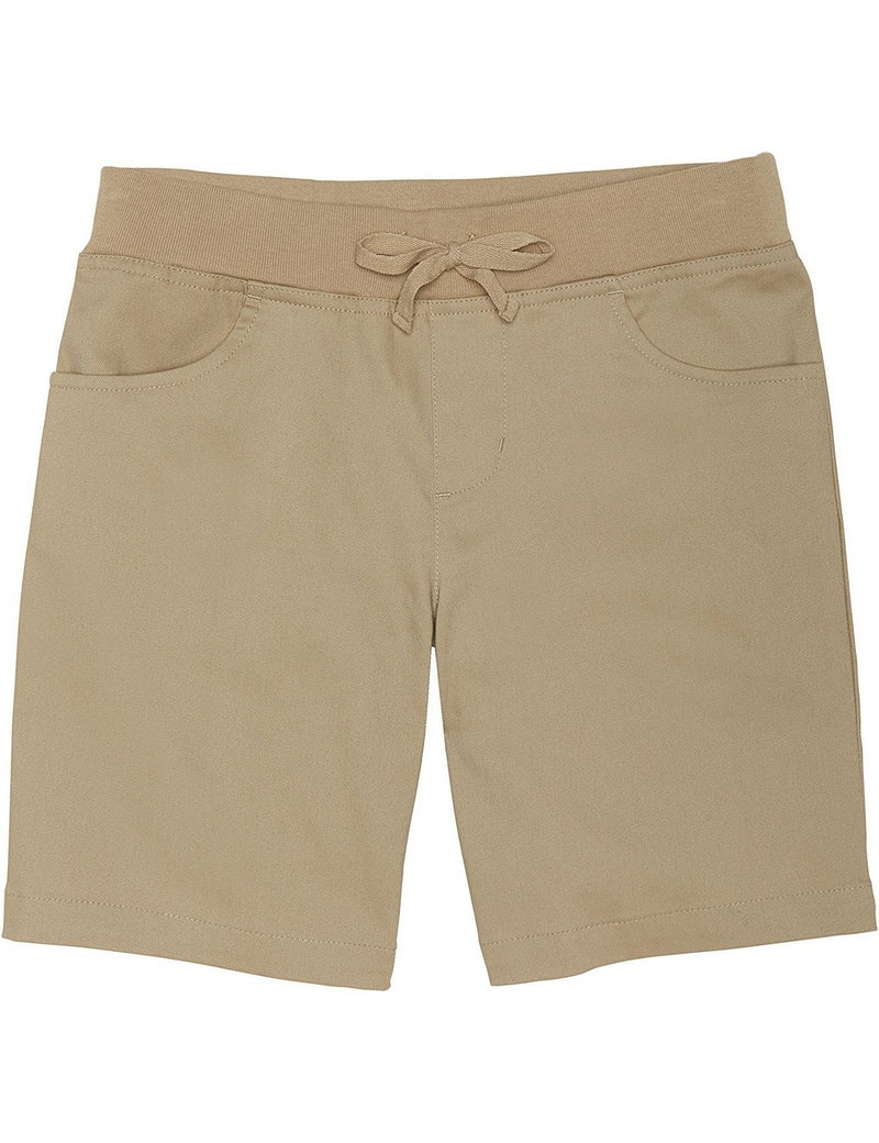 French Toast Girls' Pull-On Tie-Front Short Khaki