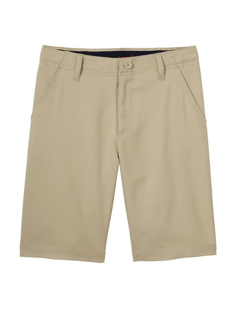 French Toast Boys' Flat Front Performance Stretch Short Khaki