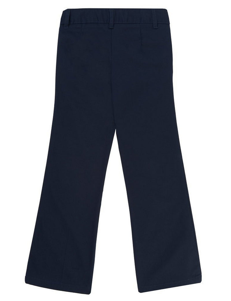 French Toast Girls' Adjustable Waist Flat Front Bootcut Pant Navy