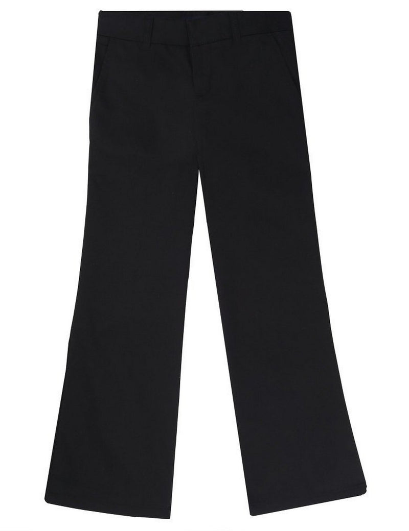French Toast Girls' Adjustable Waist Flat Front Bootcut Pant Black