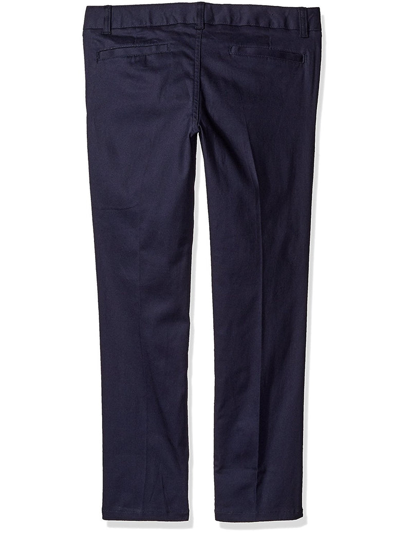 French Toast Girls' Stretch Twill Skinny Leg Pant Navy