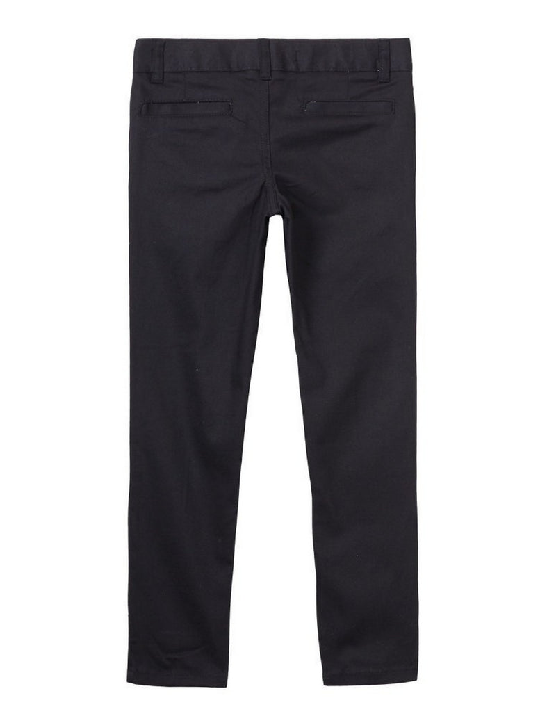 French Toast Girls' Stretch Twill Skinny Leg Pant Black