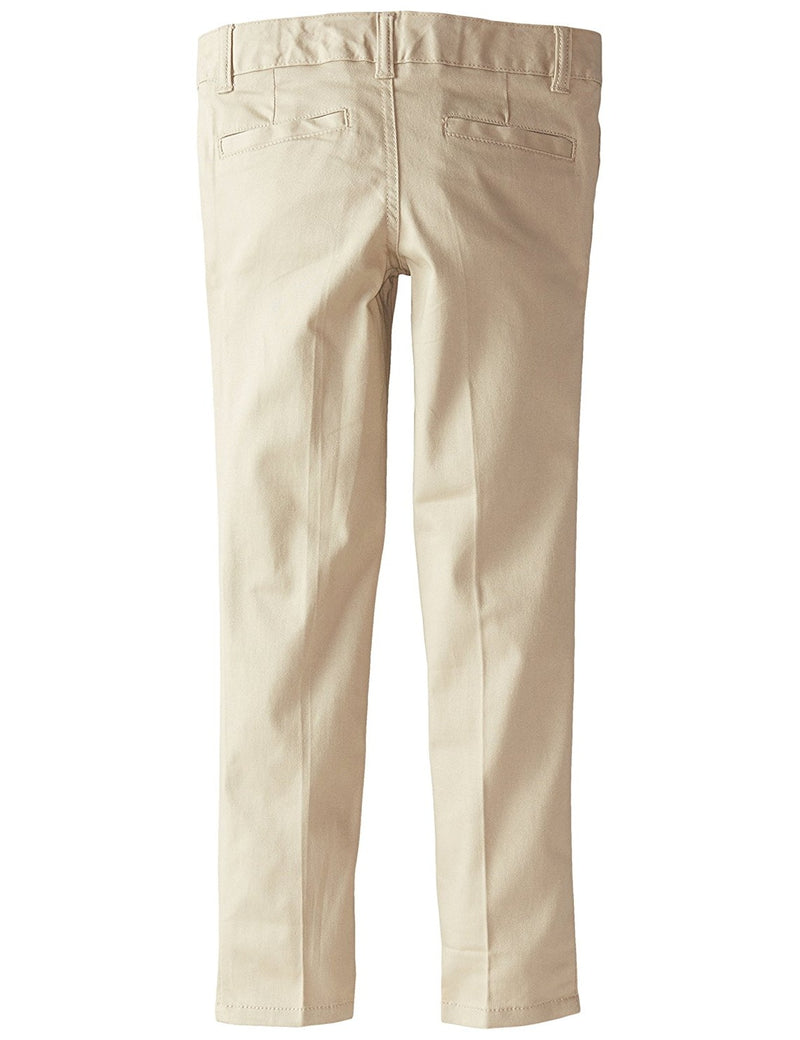 French Toast Girls' Stretch Twill Skinny Leg Pant Khaki