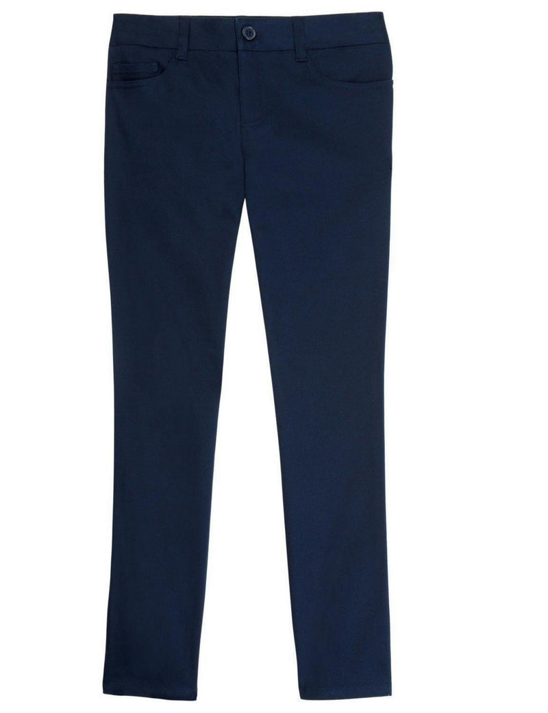 French Toast School Uniform Girls Skinny FIT 5-Pocket Pants Navy