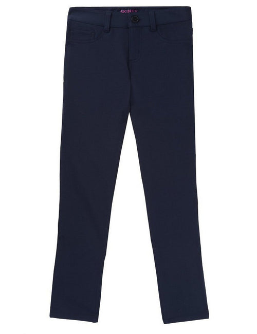 French Toast Girls' Skinny 5 Pocket Knit Pant Navy