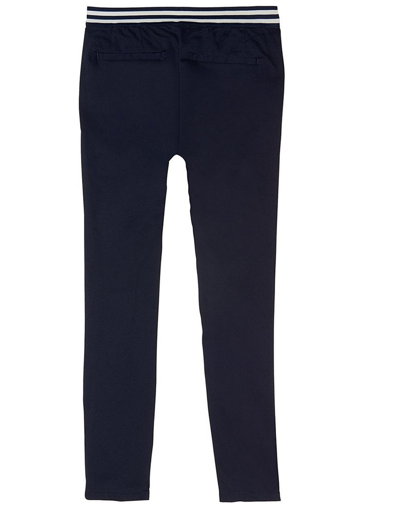 French Toast Girls' Contrast Elastic Waist Pull-On Pant Navy