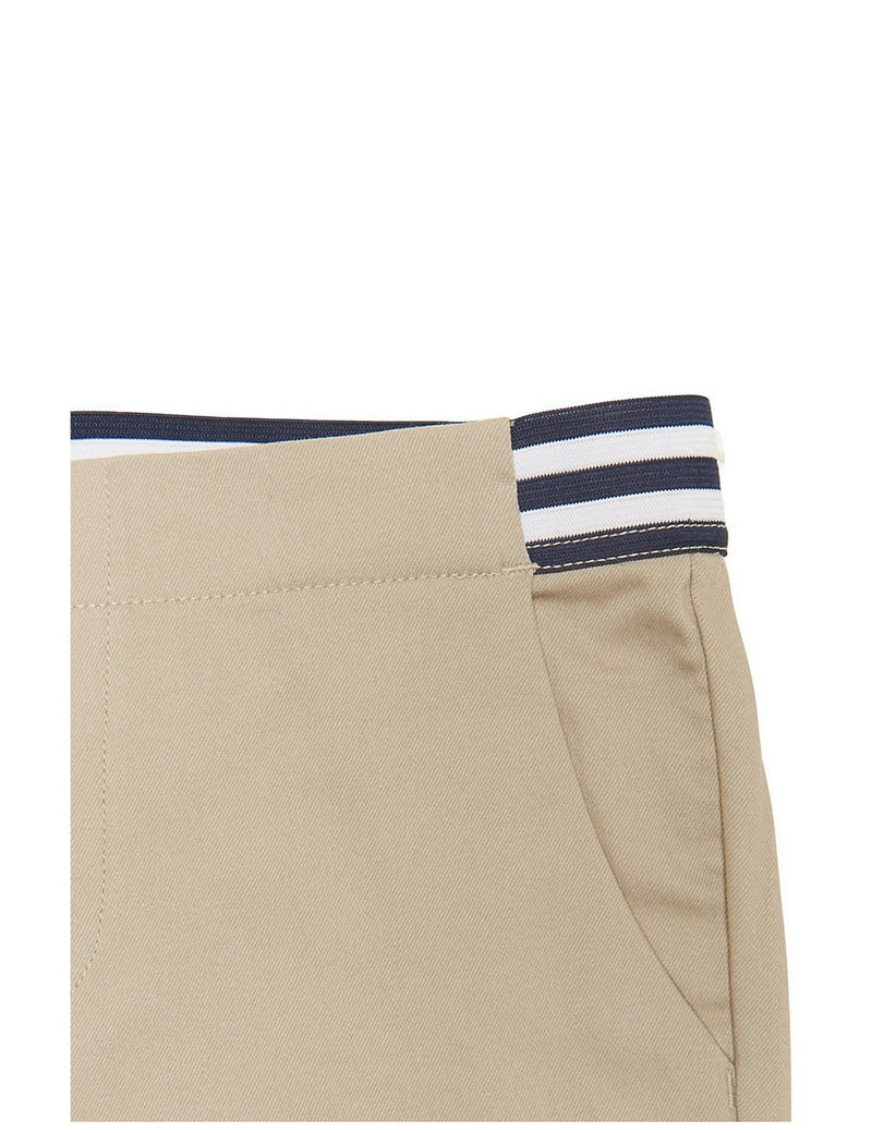 French Toast Girls' Contrast Elastic Waist Pull-On Pant Khaki
