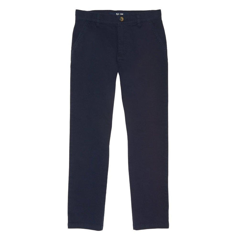 French Toast Boys' Slim Fit Stretch Chino Pant Navy