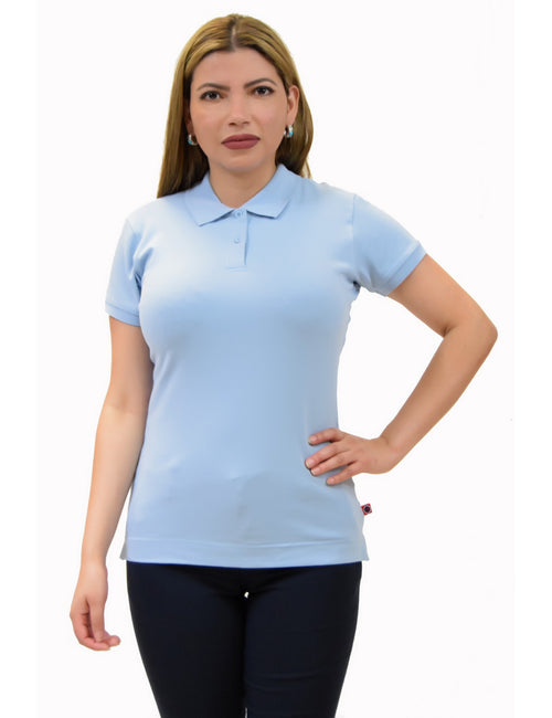 BHSC Uniform Juniors? Short Sleeve Stretch Pique Polo Shirt Light Blue