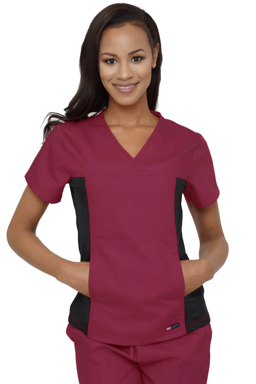 Lizzy-B Stretch Inset Set (New Fit) Burgundy