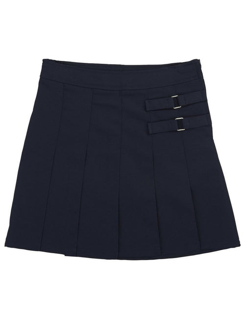 French Toast Girls' Two-Tab Pleated Scooter Navy