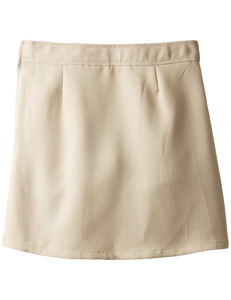 French Toast Girls' Two-Tab Pleated Scooter Khaki