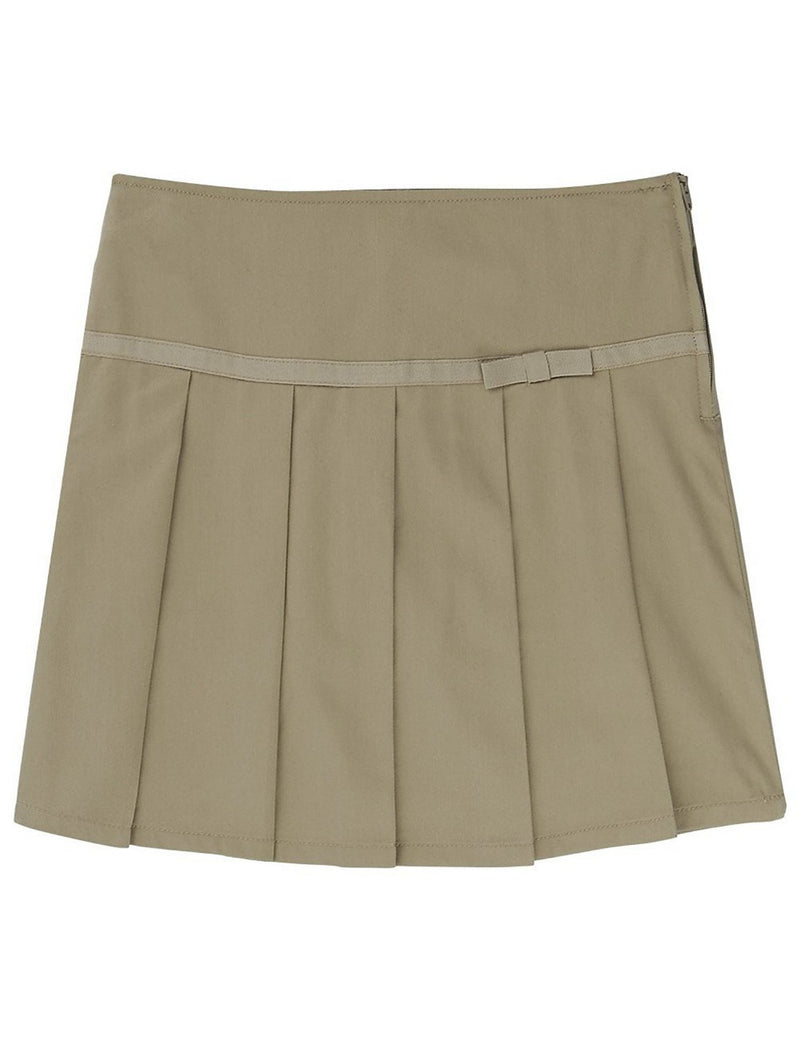 French Toast Girls' Pleated Scooter with Ribbon Khaki