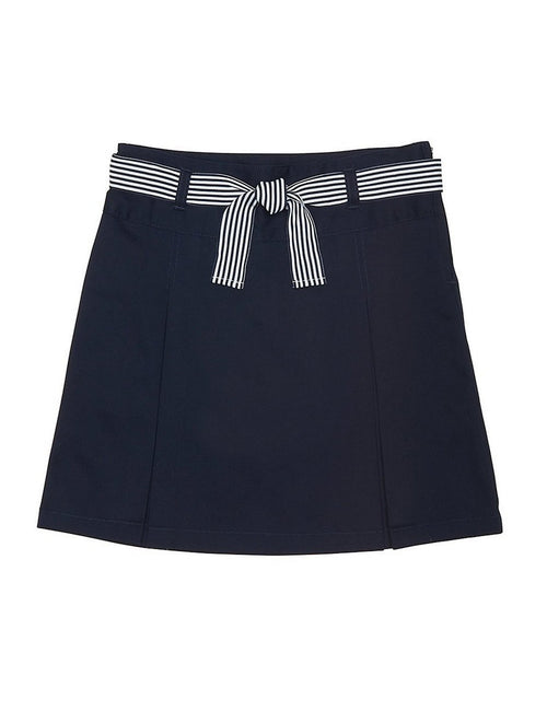 French Toast Girls' Belted 2-Pleat Scooter Navy