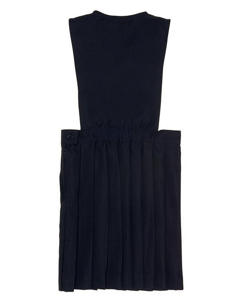 French Toast Girls' V-Neck Pleated Jumper Navy