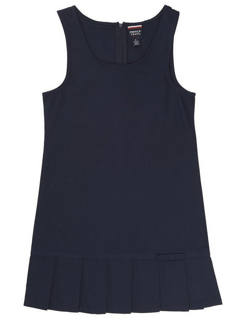 French Toast Girls' Pleated Hem Jumper With Ribbon Navy