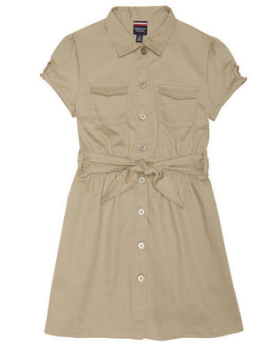 french-toast-girls'-twill-safari-shirtdress