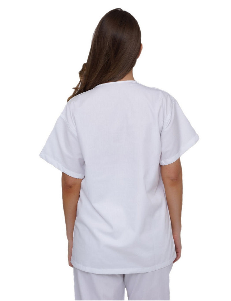 Lizzy-B V-neck Scrub Top White