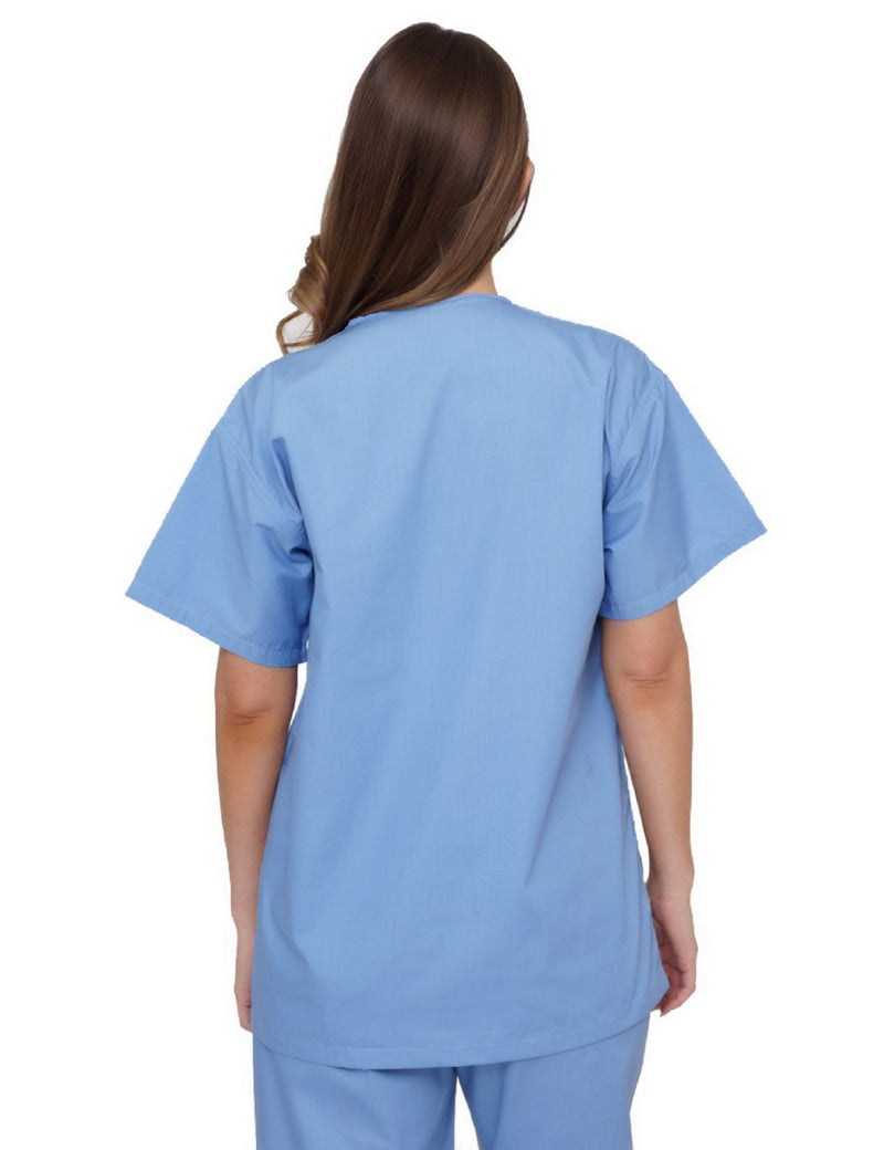 Lizzy-B V-neck Scrub Top Light Blue