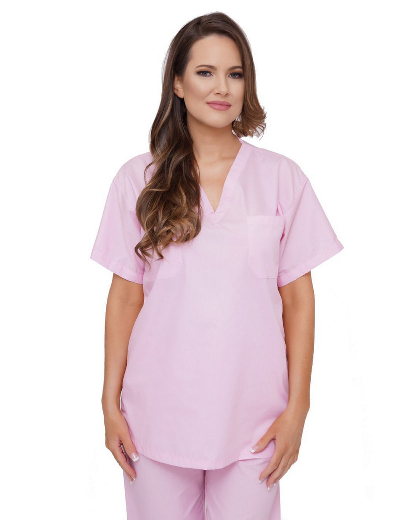 Lizzy-B V-neck Scrub Top Pink