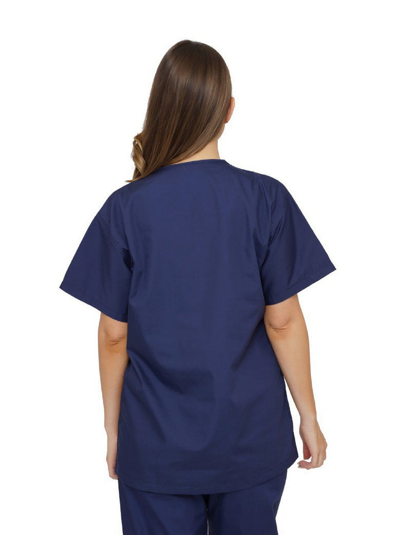 Lizzy-B V-neck Scrub Top Navy