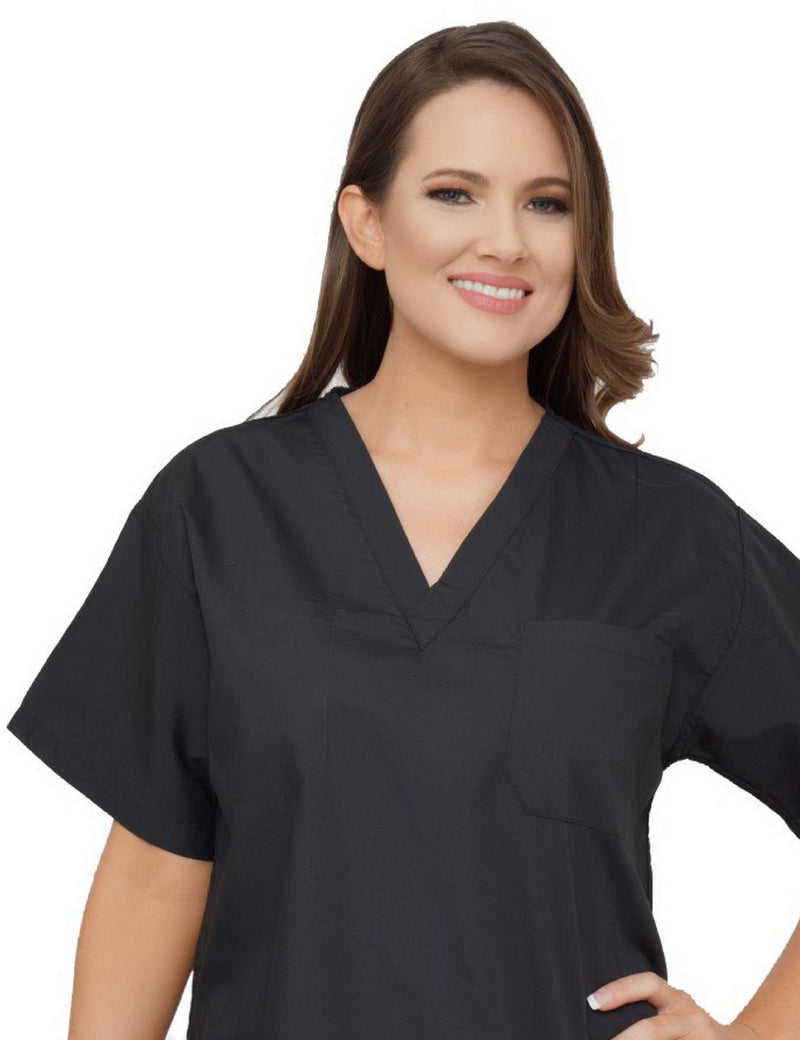 Lizzy-B V-neck Scrub Top Black