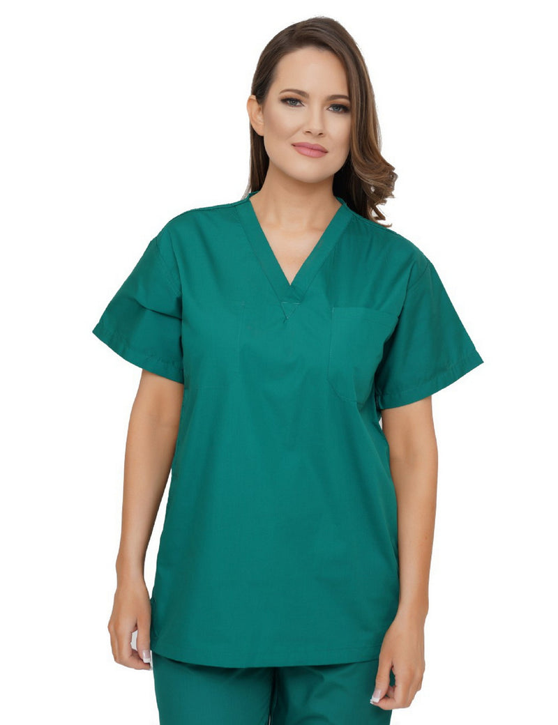 Lizzy-B V-neck Scrub Top Hunter
