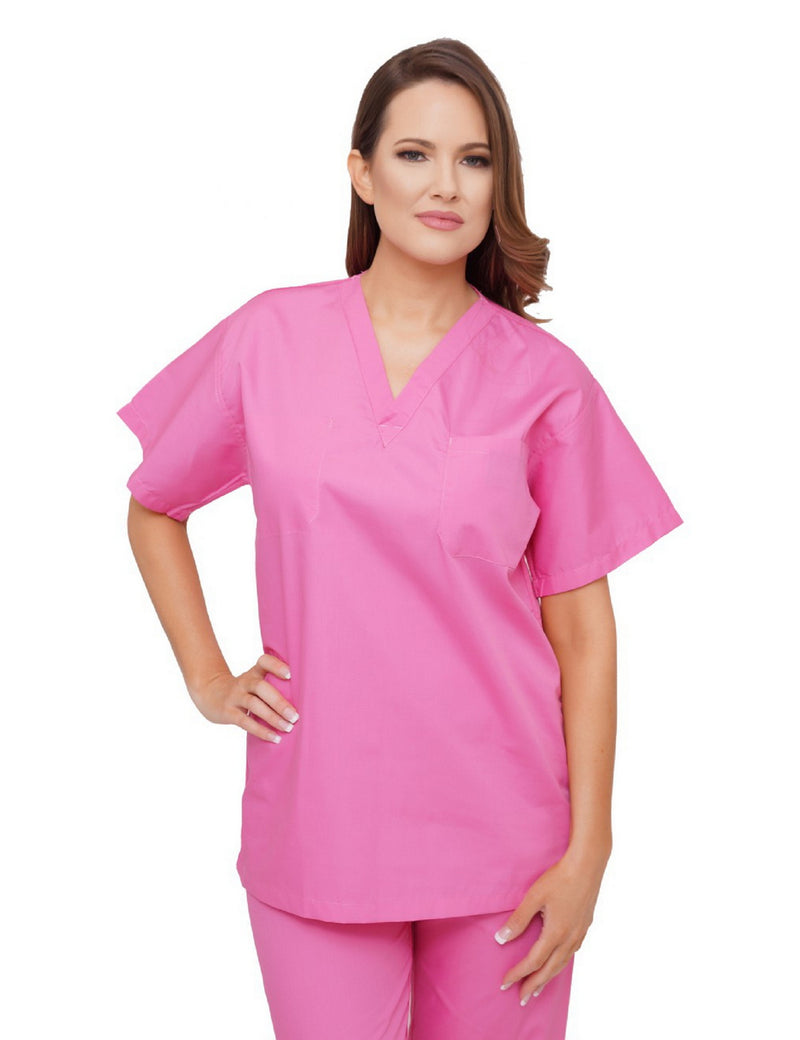 Lizzy-B V-neck Scrub Top Hot Pink