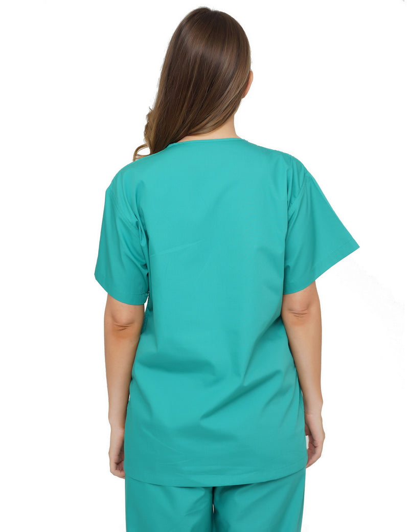 Lizzy-B V-neck Scrub Top Jade