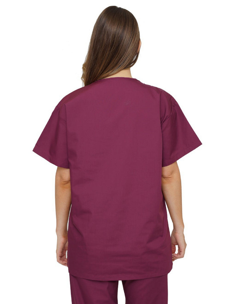 Lizzy-B V-neck Scrub Top Burgundy