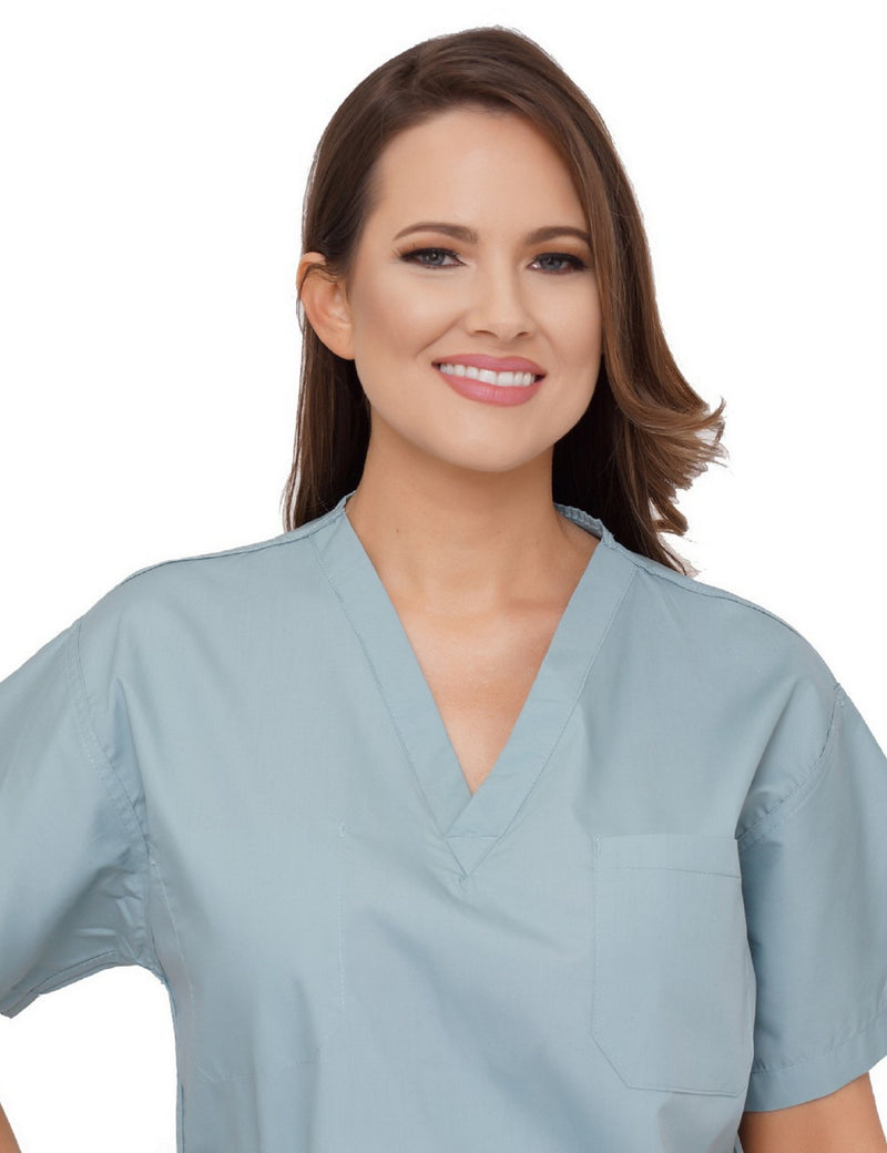 Lizzy-B V-neck Scrub Top Misty