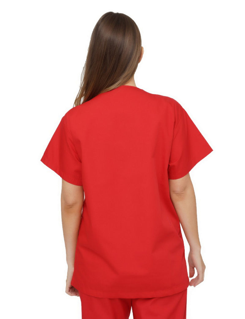 Lizzy-B V-neck Scrub Top Red