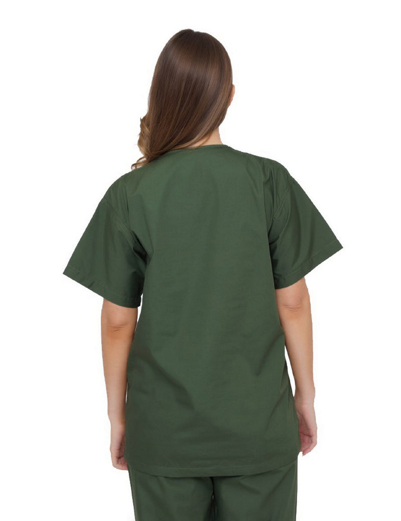 Lizzy-B V-neck Scrub Top Olive