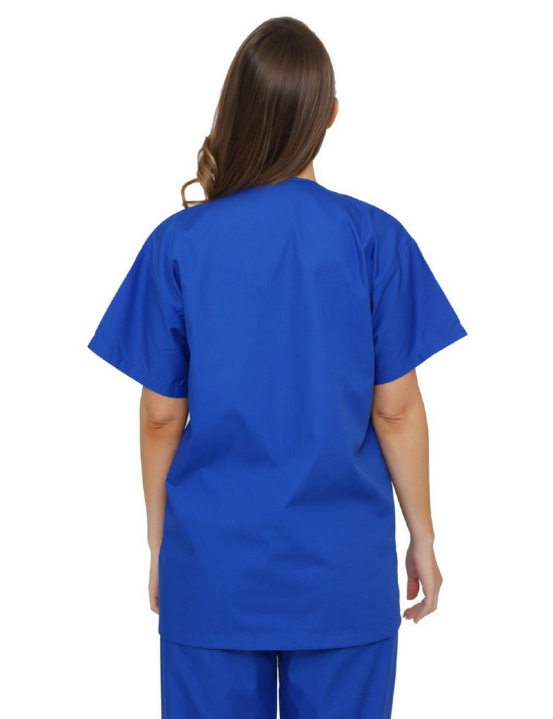 Lizzy-B V-neck Scrub Top Royal