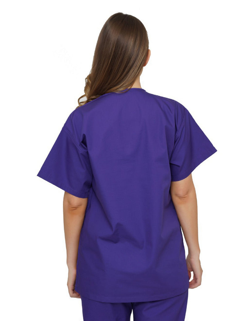 Lizzy-B V-neck Scrub Top Purple
