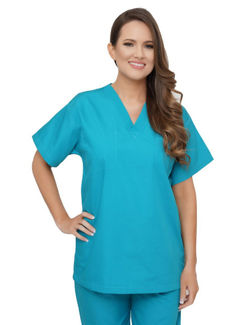 Lizzy-B V-neck Scrub Top Teal