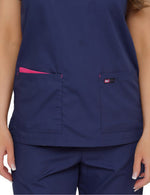 Lizzy-B Asiana Top Navy Fuschia