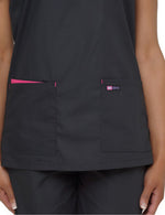 Lizzy-B Asiana Top Black Fuschia