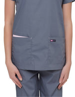 Lizzy-B Asiana Top Grey Pink