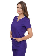 Lizzy-B Asiana Top Purple White