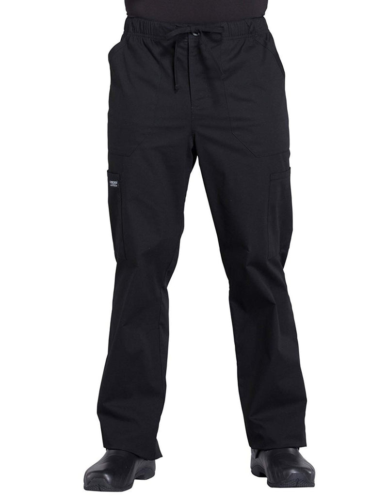 Cherokee WW Professionals WW190 Men's Tapered Leg Cargo Pant Black