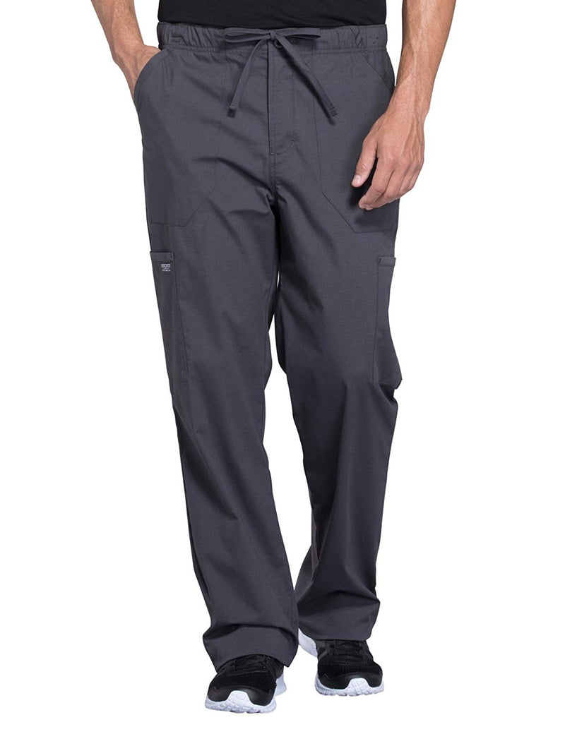 Cherokee WW Professionals WW190 Men's Tapered Leg Cargo Pant Grey