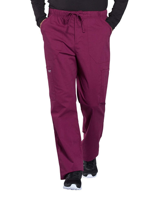 Cherokee WW Professionals WW190 Men's Tapered Leg Cargo Pant Burgundy