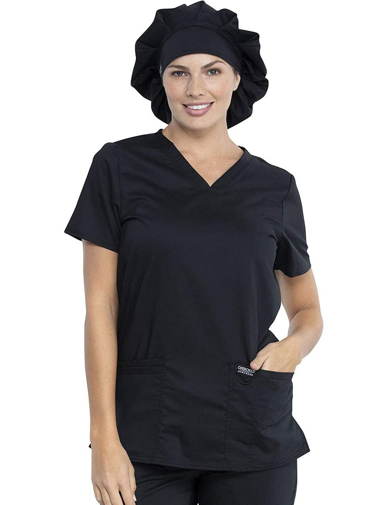 Cherokee Workwear WW Revolution Unisex Bouffant Scrubs Hat WW550 Black