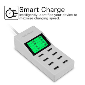 Smart Wall Charger With 8 USB Ports EU US UK